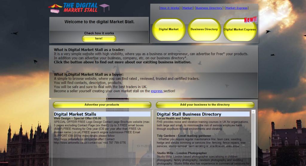 Main portal page